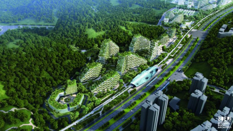 """China baut die weltweit erste """"Waldstadt"""" zur Bekämpfung der Luftverschmutzung"""