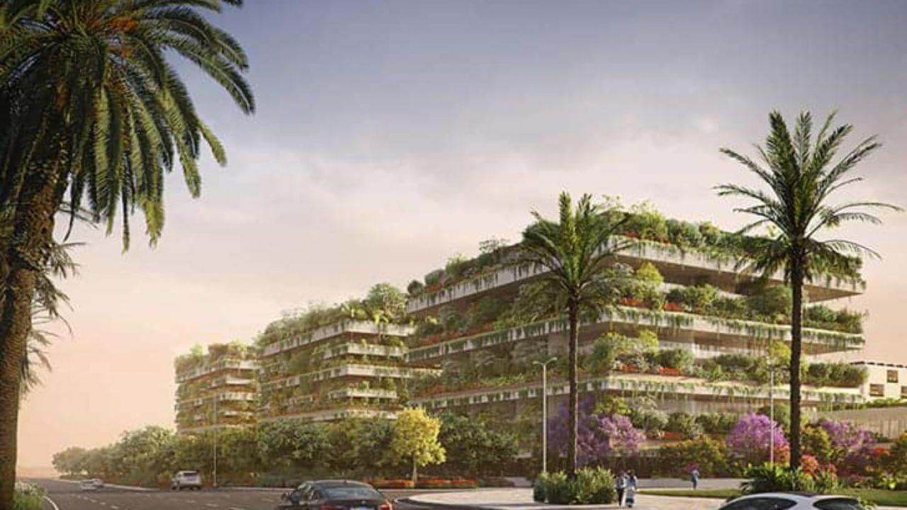 Drei Gebäude mit Tausenden von Pflanzen und Bäumen: Hier ist der erste vertikale Wald Afrikas