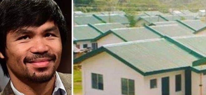 Weltmeister Boxer Manny Pacquiao baut 1000 Häuser für arme Filipinos