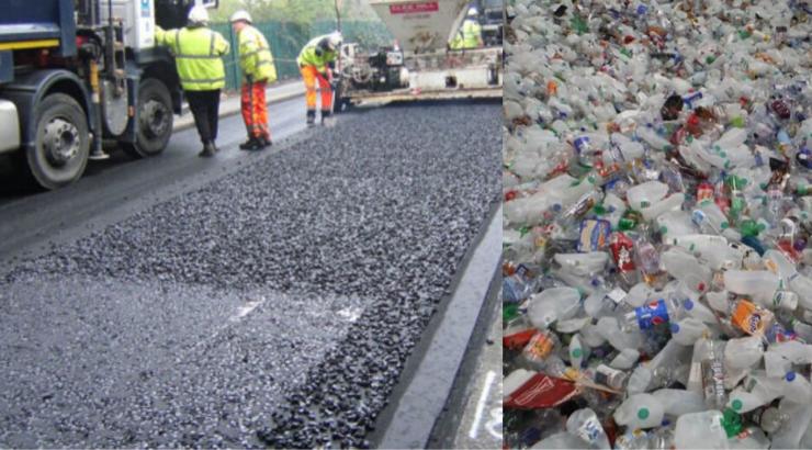 Diese Firma verwendet Plastikmüll zum Bau von Straßen, die 60% stabiler sind als herkömmliche